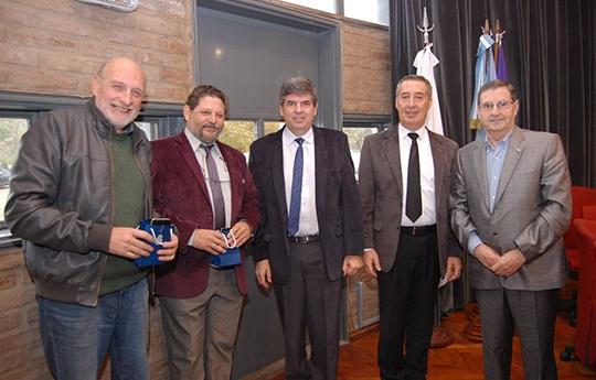 De izq. a der: Juan Luis Benedetto, Edgardo Baldo; Francisco Tamarit; José Luis Bocco, Vicente Macagno.