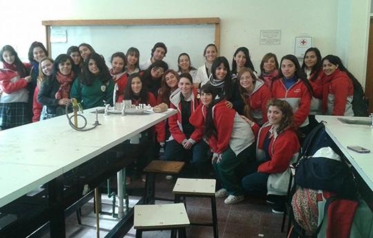 Alumnos del colegio Santa Margarita