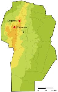 mapa sierras centrales