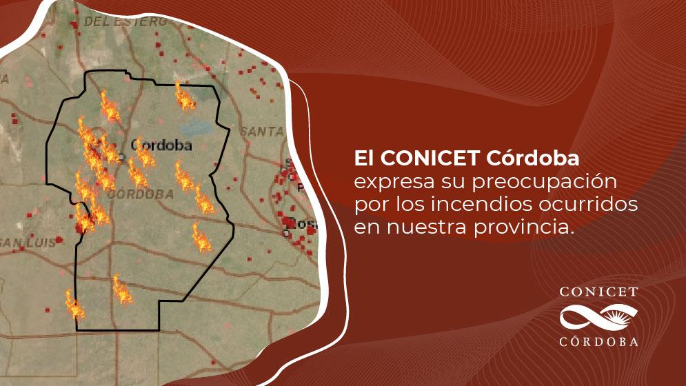 El CONICET Córdoba expresa su preocupación sobre los incendios